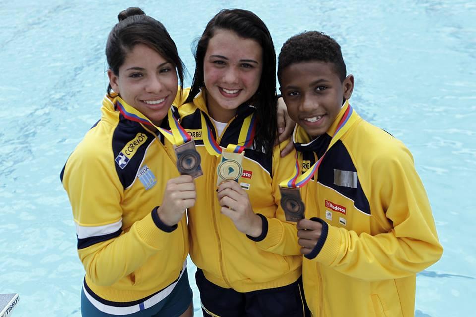 Ingrid Oliveira, Giovana Pedroso e Isaac Souza. Nova geração treinou na China e voltou para disputar o Sul-Americano Juvenil