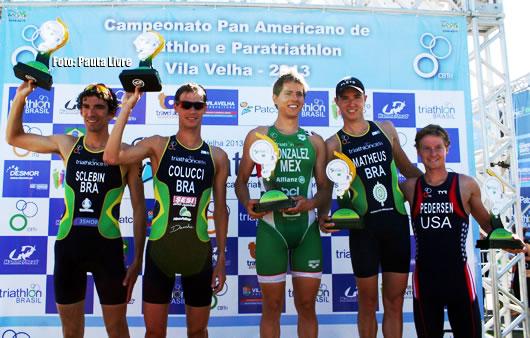 Três brasileiros vão ao pódio no Pan-Americano de Triatlo